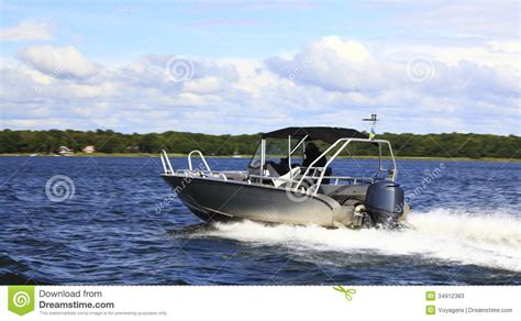 Fast Cruising Boats by Motor Fast Boat In Baltic Sea Power Boating Stock Photos