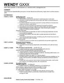 human resource resume summary 7 307 human resources resume exles sles livecareer