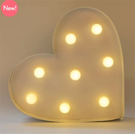 reduced heart led light  wall decoration white