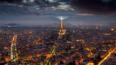 paris night cityscape desktop pc  mac wallpaper