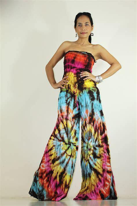 boho jumpsuit jumpsuit tie dye hippie boho jumper maxi dress