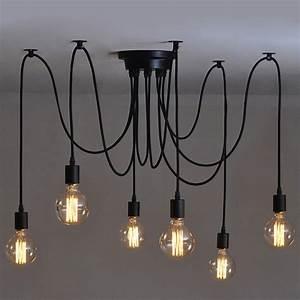Luminaire Industriel Ikea : 6 pcs luminaire suspension style europ en moderne ikea lampe pendante lampe plafonnier diy ~ Teatrodelosmanantiales.com Idées de Décoration