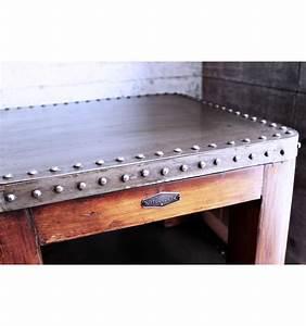 Table Basse Vintage Bois : table basse bois et acier vintage industriel ~ Melissatoandfro.com Idées de Décoration
