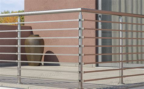 Outdoor Banister Railing With Steel Cables/wire Mesh Deck