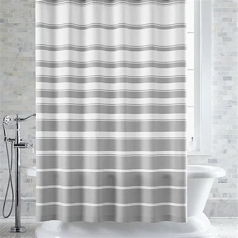 Shower Curtain Gray by Hton Grey White Striped Shower Curtain Crate And Barrel