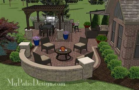 sq ft outdoor entertainment patio design