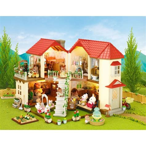 sylvanian  grande maison tradition eclairee
