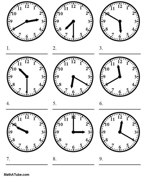 Telling Time Worksheets  Telling The Time Worksheet