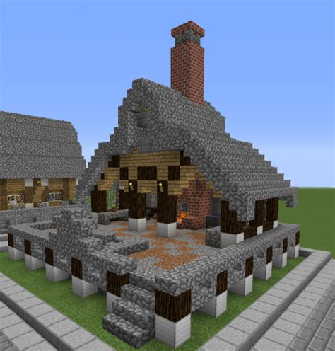 stone roof medieval blacksmith grabcraft  number