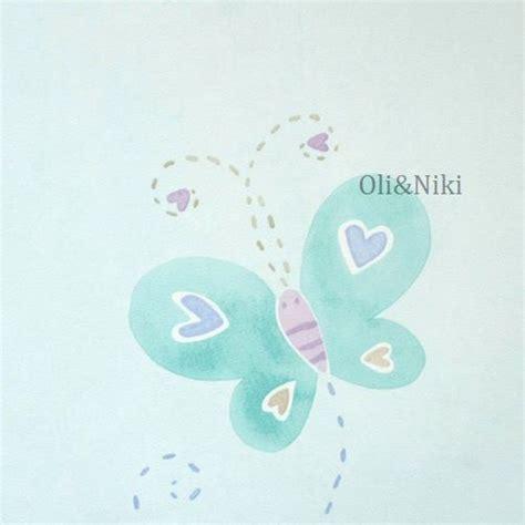 Kinderzimmer Mädchen Hellblau by Tapete Hellblau Schmetterlinge Im Shop Oli Niki