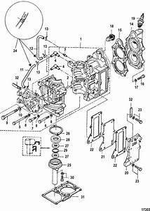 Mercury Marine 6 Hp  2 Cylinder   International  Cylinder Block Parts