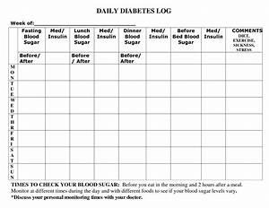 7 best images of diabetic food log printable printable With diabetic diary template