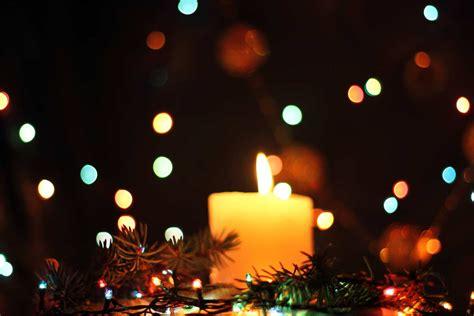 Winter Landscape Desktop Wallpaper Christmas Candles Holiday Candle Evening 17933