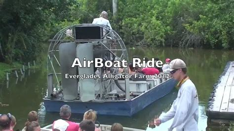 Youtube Airboat Rides Everglades by Everglades Alligator Farm Airboat Ride Homestead Florida