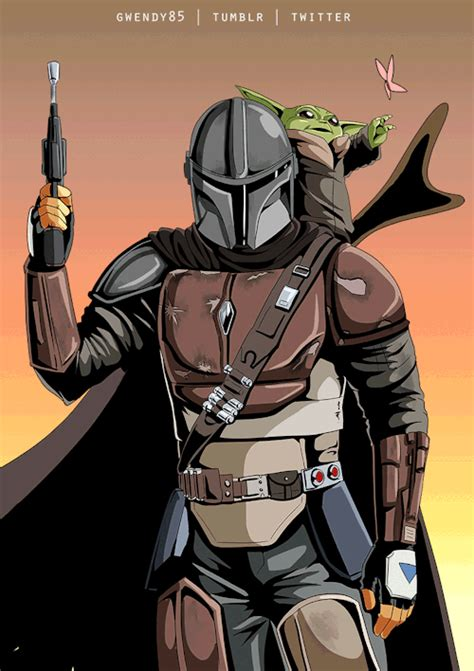 Mandalorian and baby yoda fanart gif by gwendy85 – Blog do ...