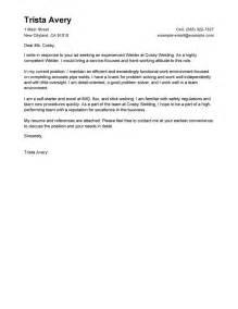 leading professional welder cover letter exles