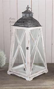 Laterne Weiß Holz : rustikale holzlaterne pyramide holz shabby chic ~ Watch28wear.com Haus und Dekorationen