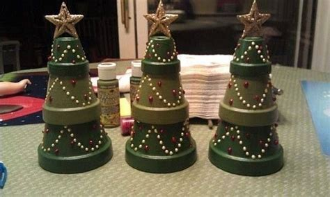 Christmas Trees Made From Flower Pots. Kitchen Design Scotland London Ontario Ideas On A Budget Tools Appliances Simple Small Free Online Designer Handles