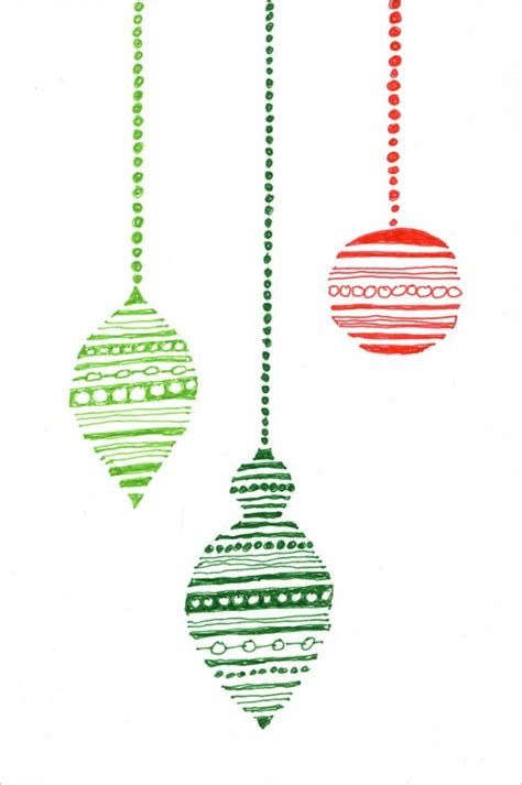 holiday ornament card christmas ornament outlines and