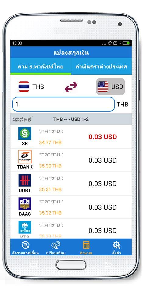 อัตราแลกเปลี่ยนเงินวันนี้   Exchange Rate Thai