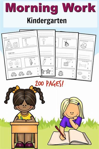 Kindergarten Morning Printable Preschool Homeschool Pages Worksheets