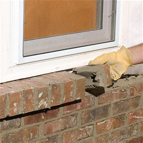 How To Build A Window Sill by Building A Brick Veneer House Wall Better Homes Gardens