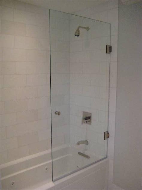 half glass shower door for bathtub half glass door shower doors