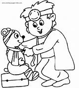Coloring Doctors Printable Doctor sketch template