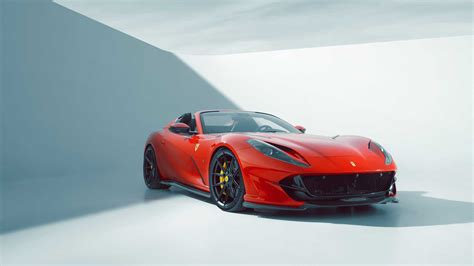The novitec ferrari 812 gts comes loaded with carbon fibre panels that novitec has subjected to stringent wind tunnel testing. Check Out Novitec's Variation On The Ferrari 812 GTS