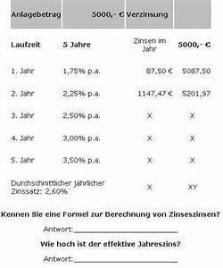Zinsen Berechnen Bearbeitungsgebühr : zinssrechnung aufgaben und test ben siebern ~ Themetempest.com Abrechnung