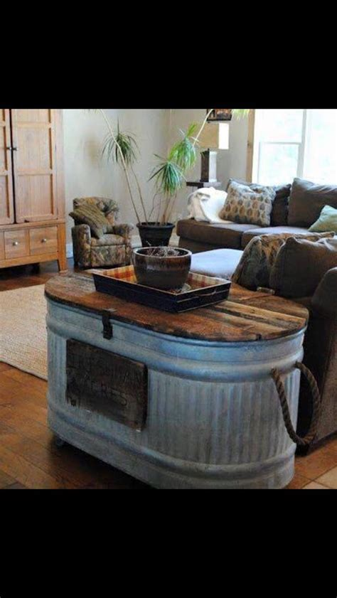 water trough coffee table furniture ideas decor