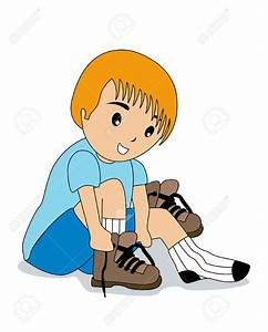 Kids wearing shoes clipart