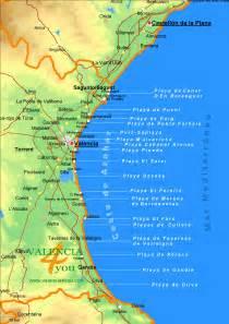 Valencia Beaches Map