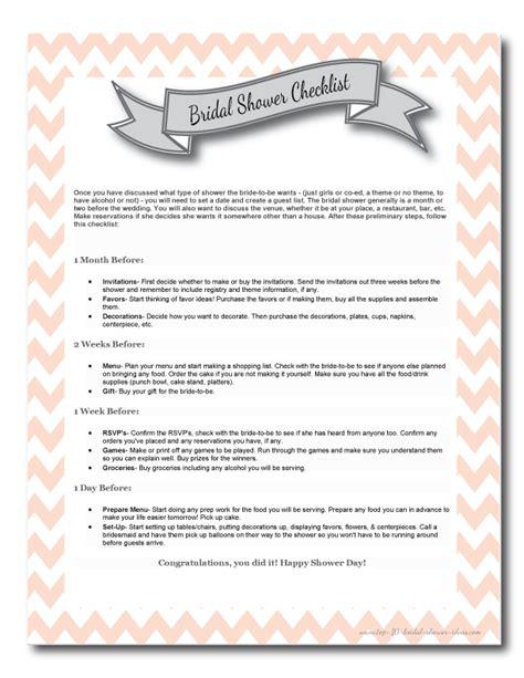Bridal Shower Preparation by Top 10 Bridal Shower Checklist