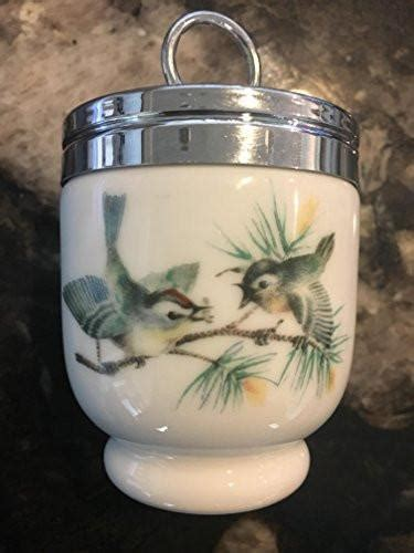 royal worcester egg coddler birds  insect pattern