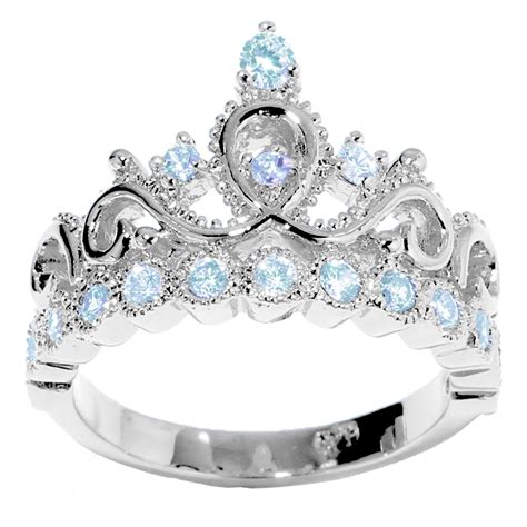 14k Gold Princess Crown Aquamarine Birthstone Ring (march. Brown Topaz Rings. Samurai Wedding Rings. Unisex Wedding Rings. Swirl Engagement Rings. Classic Wedding Wedding Rings. Indian Rings. Marquise Rings. Designer Rings