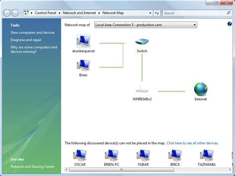 network mapping  vista  windows xp