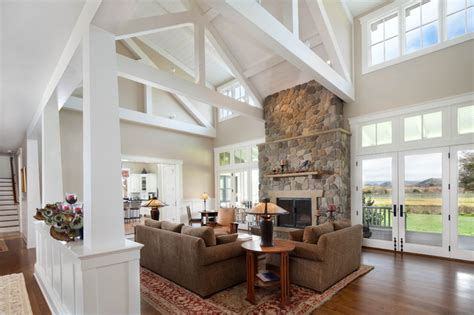 country style house with wrap around porch modern ranch home farmhouse living room santa