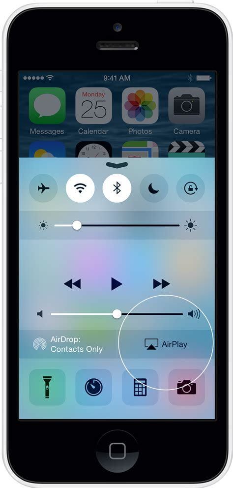 airplay on iphone use airplay to wirelessly content from your iphone
