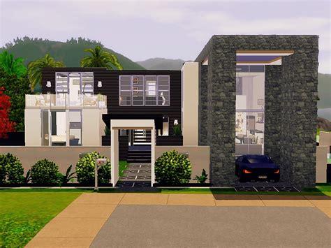 sims 3 house floor plans modern mod the sims modern house no cc