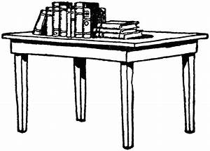 Table with Books | ClipArt ETC