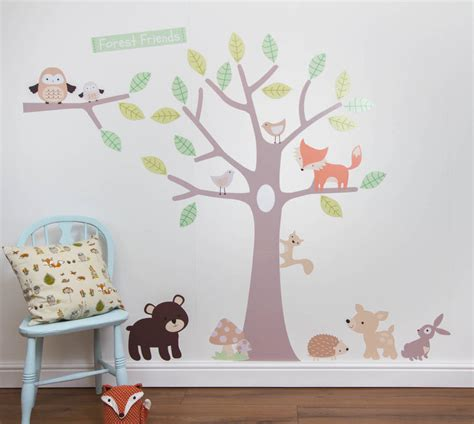 stickers chambre fille pastel forest wall stickers by parkins interiors