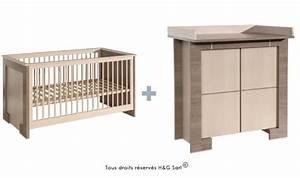 Lit Avec Table à Langer : mobilier chambre bb pas cher de qualit collection bb crme ~ Teatrodelosmanantiales.com Idées de Décoration