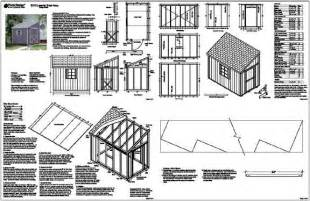 6 x10 slant lean to style shed plans see sles ebay