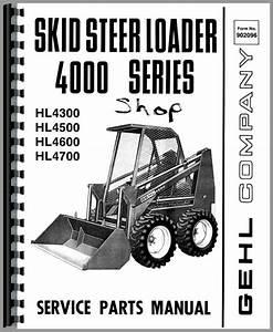 Gehl Hl4500 Skid Steer Loader Parts Manual