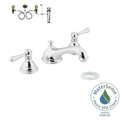 moen kingsley 8 in widespread 2 handle low arc bathroom