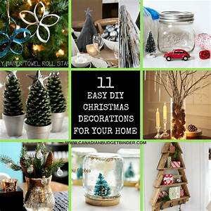 Decoration Noel Diy : 11 diy easy christmas decorations for your home the saturday weekend review 199 canadian ~ Farleysfitness.com Idées de Décoration