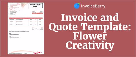 invoice  quote template flower creativity