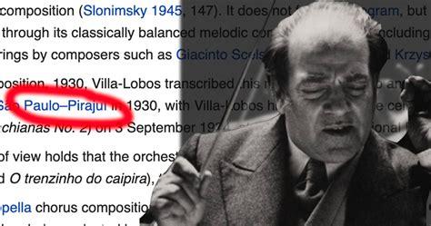 Maestro Villa-Lobos lançou a famosa Tocata em Pirajuí ...