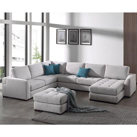 coussin canap d angle canapé d 39 angle panoramique gris en tissu vigo 10 coloris